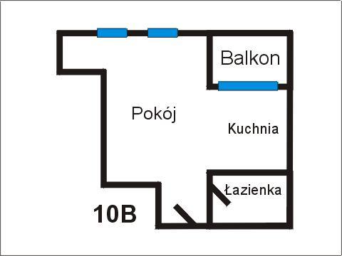 Rzut apratmentu 10B - Albatros Kołobrzeg