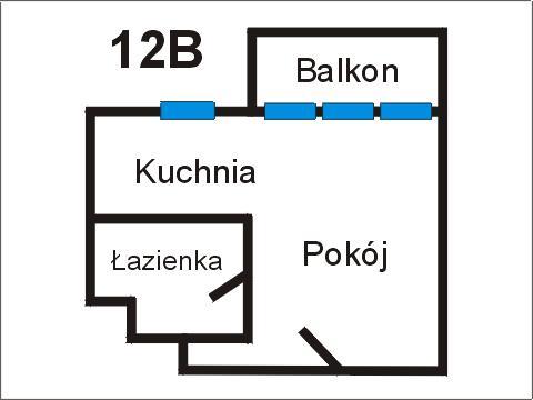 Rzut apratmentu 12B - Albatros Kołobrzeg