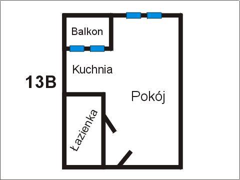 Rzut apratmentu 13B - Albatros Kołobrzeg