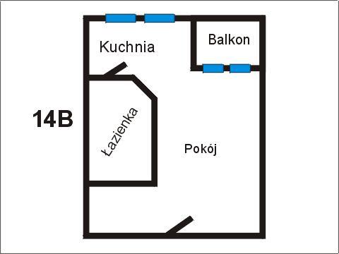 Rzut apratmentu 14B - Albatros Kołobrzeg