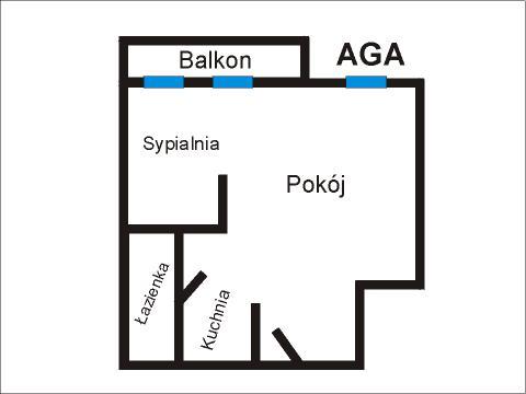 Rzut apratmentu AGA - Albatros Kołobrzeg