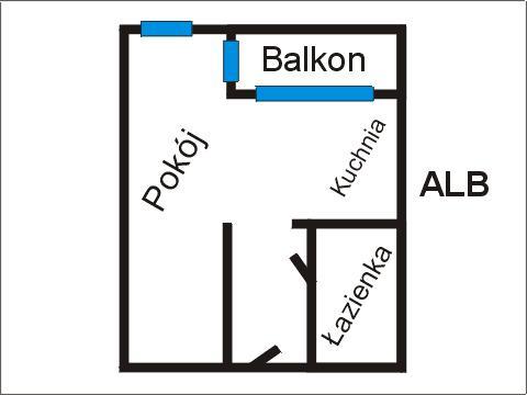 Rzut apratmentu ALB - Albatros Kołobrzeg