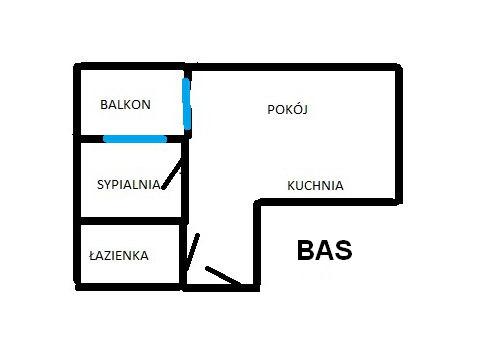 Rzut apratmentu BAS - Albatros Kołobrzeg