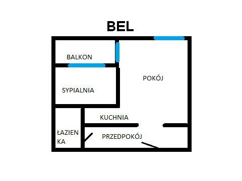 Rzut apratmentu BEL - Albatros Kołobrzeg