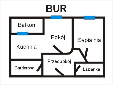Rzut apratmentu BUR - Albatros Kołobrzeg