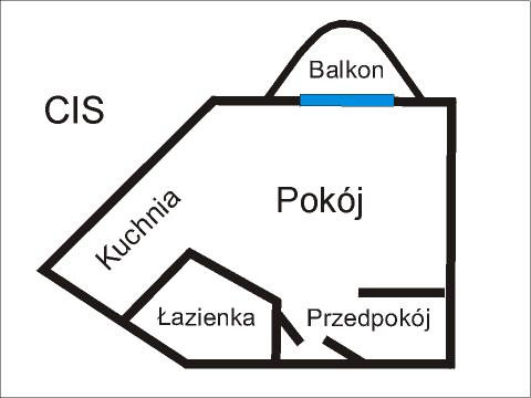 Rzut apratmentu CIS - Albatros Kołobrzeg