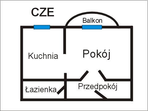 Rzut apratmentu CZE - Albatros Kołobrzeg
