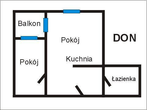 Rzut apratmentu DON - Albatros Kołobrzeg