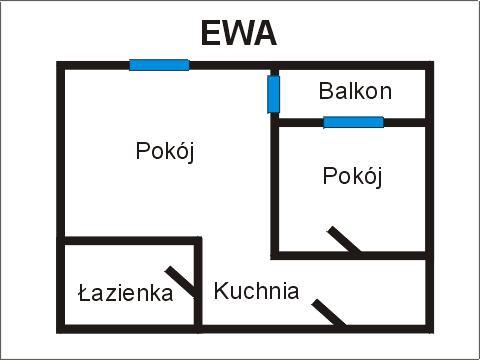 Rzut apratmentu EWA - Albatros Kołobrzeg