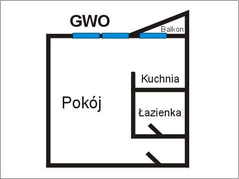 Rzut apratmentu GWO - Albatros Kołobrzeg
