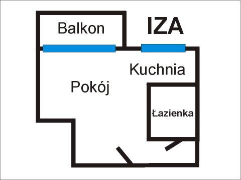 Rzut apratmentu IZA - Albatros Kołobrzeg