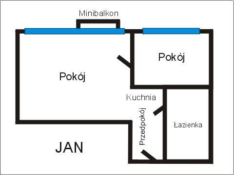 Rzut apratmentu JAN - Albatros Kołobrzeg