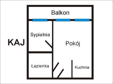 Rzut apratmentu KAJ - Albatros Kołobrzeg