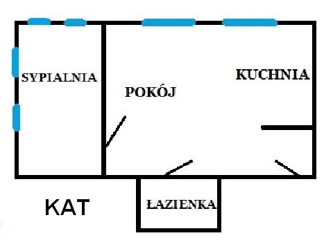 Rzut apratmentu KAT - Albatros Kołobrzeg