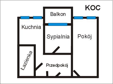 Rzut apratmentu KOC - Albatros Kołobrzeg