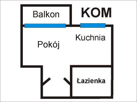 Rzut apratmentu KOM - Albatros Kołobrzeg