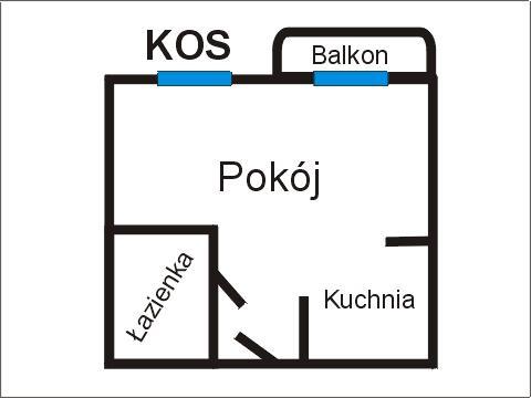 Rzut apratmentu KOS - Albatros Kołobrzeg