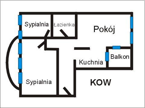 Rzut apratmentu KOW - Albatros Kołobrzeg