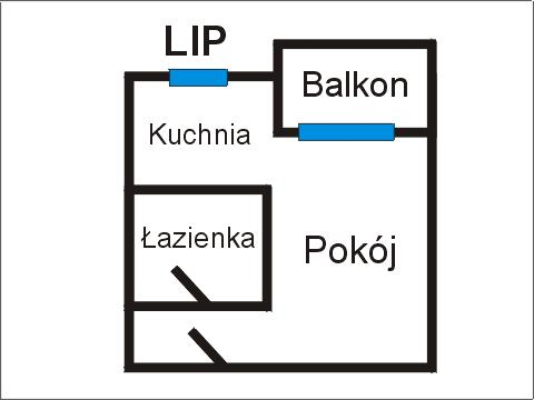Rzut apratmentu LIP - Albatros Kołobrzeg