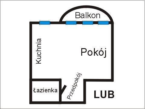 Rzut apratmentu LUB - Albatros Kołobrzeg