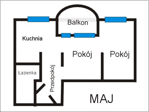 Rzut apratmentu MAJ - Albatros Kołobrzeg