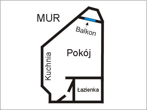 Rzut apratmentu MUR - Albatros Kołobrzeg