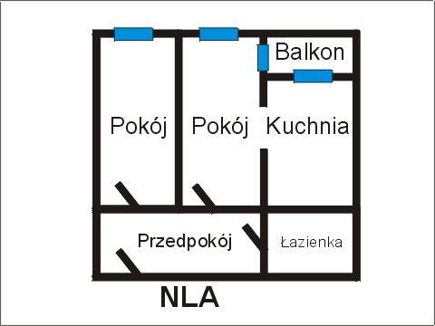 Rzut apratmentu NLA - Albatros Kołobrzeg