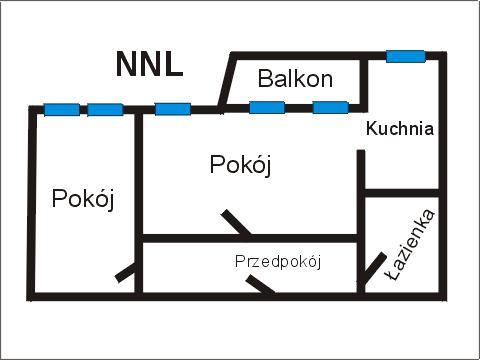Rzut apratmentu NNL - Albatros Kołobrzeg