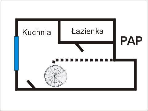 Rzut apratmentu PAP - Albatros Kołobrzeg