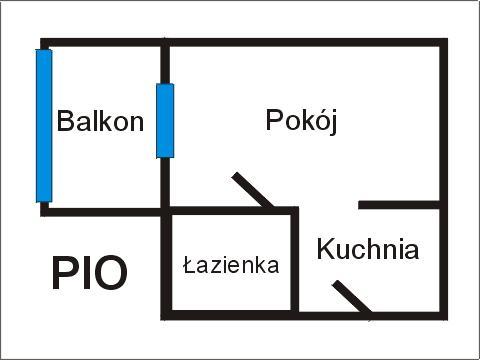 Rzut apratmentu PIO - Albatros Kołobrzeg