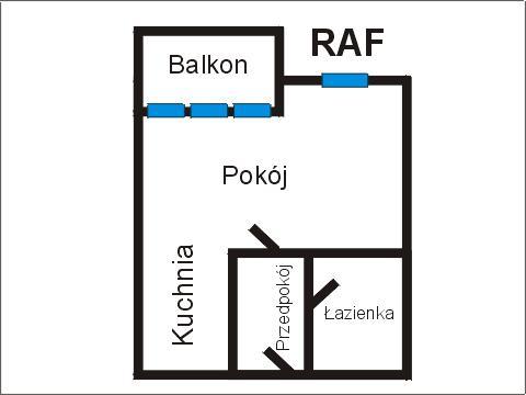 Rzut apratmentu RAF - Albatros Kołobrzeg