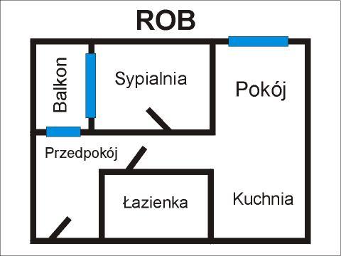 Rzut apratmentu ROB - Albatros Kołobrzeg