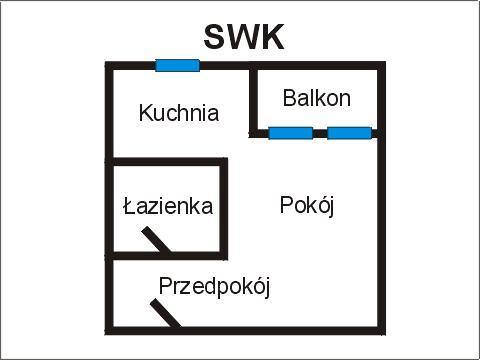 Rzut apratmentu SWK - Albatros Kołobrzeg