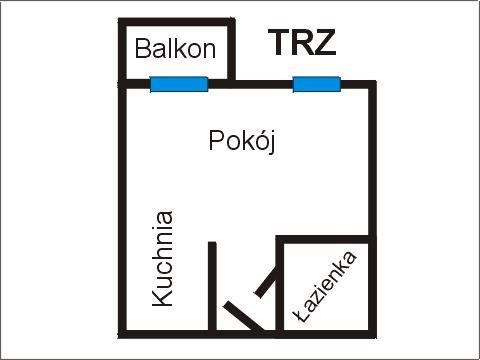 Rzut apratmentu TRZ - Albatros Kołobrzeg