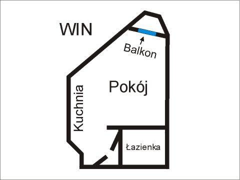Rzut apratmentu WIN - Albatros Kołobrzeg