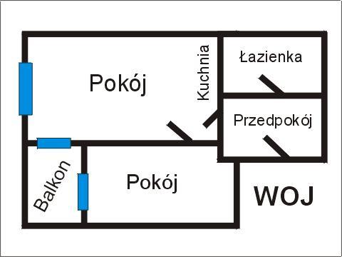 Rzut apratmentu WOJ - Albatros Kołobrzeg
