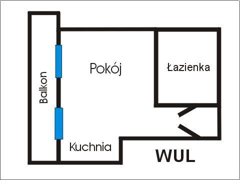 Rzut apratmentu WUL - Albatros Kołobrzeg
