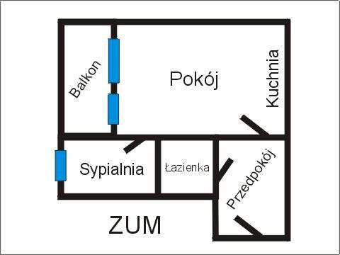 Rzut apratmentu ZUM - Albatros Kołobrzeg